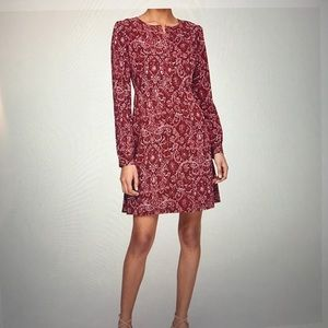NWT LOFT maroon dress
